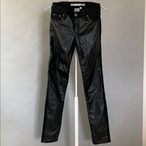 Tractor jeans black with pleather